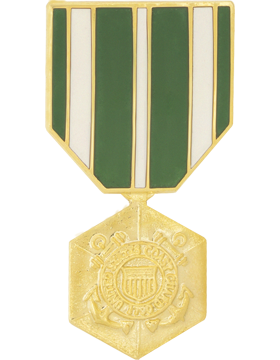 Coast Guard Commendation Medal Hat Pin
