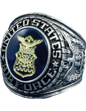 US Air Force Ring Style 15 Rhodium Plated