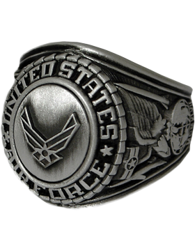 US Air Force Ring Style 22 Silver Antique Finish
