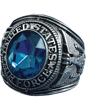 US Air Force Ring Style 23 Rhodium Plated