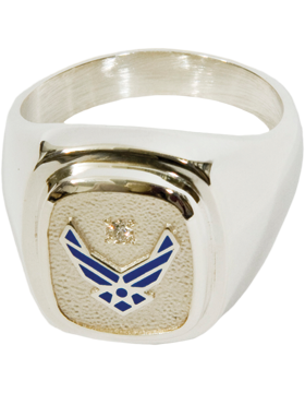 US Air Force Classic Diamond Ring Style 4D