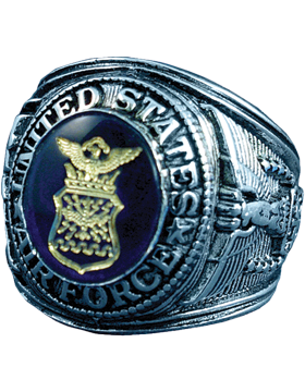 US Air Force Ring Style 510 Sterling Silver