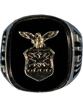 US Air Force Ring Style 60 Black Onyx