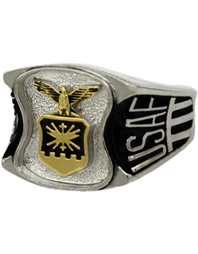 US Air Force Ring Style 80 Rhodium Plated