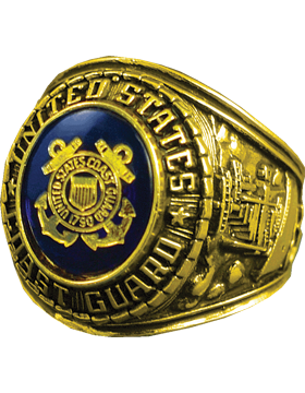 US Coast Guard Ring Style 10 18K Gold Plated