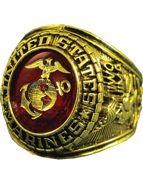 US Marine Corps Ring Style 10 18K Gold Plated