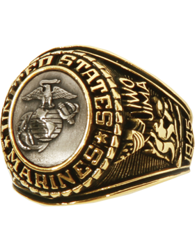 US Marine Corps Ring Style 21 Bronze Top