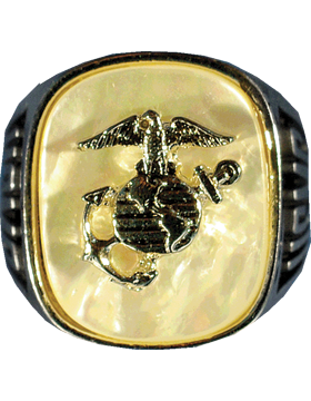 US Marine Corps Ring Style 30 Mother of Pearl