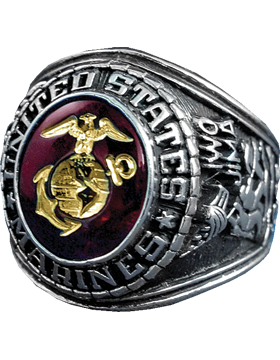 US Marine Corps Ring Style 510 Sterling Silver