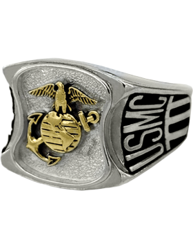 US Marine Corps Ring Style 80 Rhodium Plated