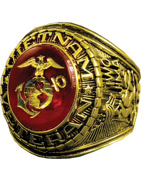US Marine Corps Vietnam Veteran Ring Style 12 18K Gold Plated