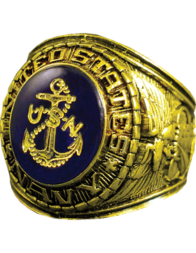 US Navy Ring Style 10 18K Gold Plated