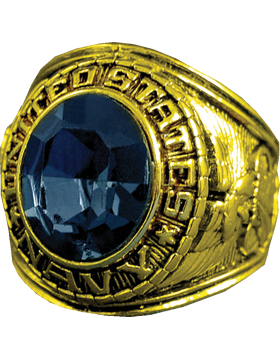 US Navy Ring Style 20 18K Gold Plated
