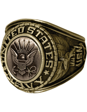 US Navy Ring Style 21 Bronze Top
