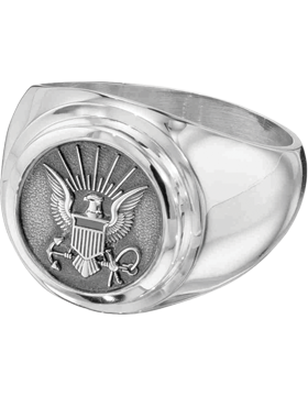 US Navy Classic Signet Ring Style 4