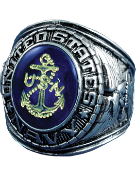 US Navy Ring Style 510 Sterling Silver