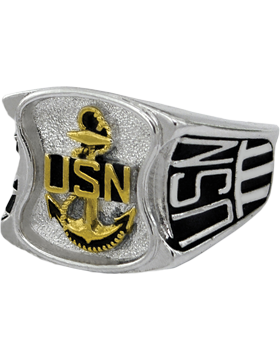US Navy Ring Style 80 Rhodium Plated