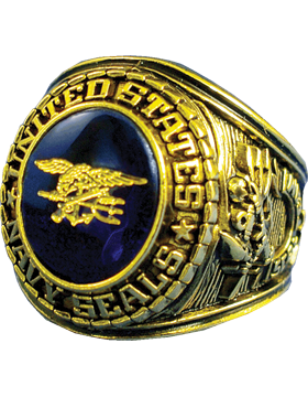 US Navy Seal Ring Style 10 18K Gold Plated