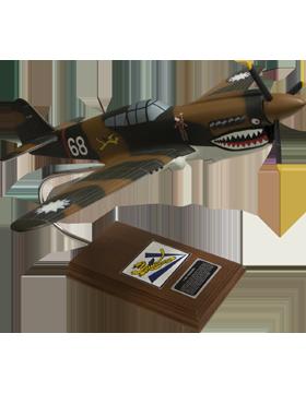 North American P-40E Warhawk Model Plane Scale 1:24