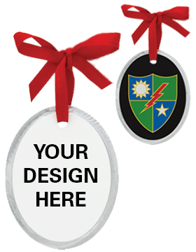 Sublimation Christmas Ornament, Oval Aluminum 3in