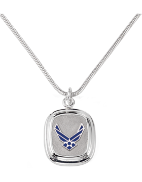 US Air Force Pendant Necklace Sterling Silver Style 4