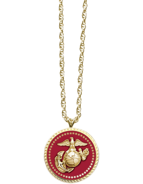 Presidential Series Marine Corps Pendant Necklace Style 2