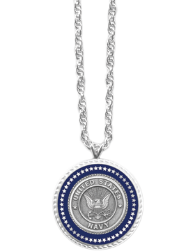 Presidential Series Navy Pendant Necklace Style 2