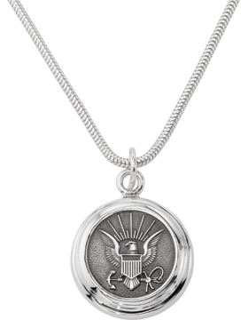 US Navy Pendant Necklace Sterling Silver Style 4