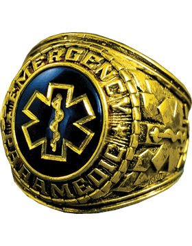 Emergency Paramedic Ring Style 11 18K Gold Plated