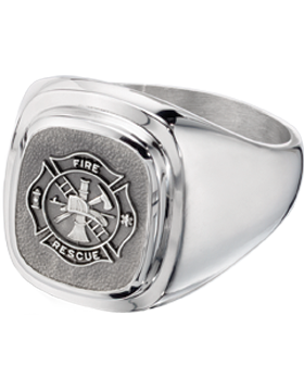 Fire Rescue Classic Ring Style 14 Sterling Silver