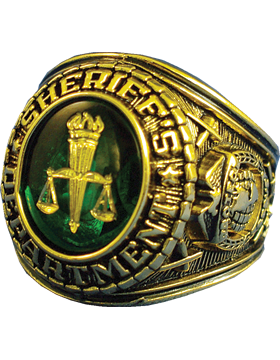 Sheriffs Department Ring Style 11 18K Gold Plated