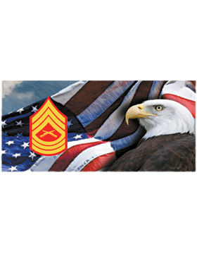 Marine Corps, Master Sergeant, Flag with Eagle