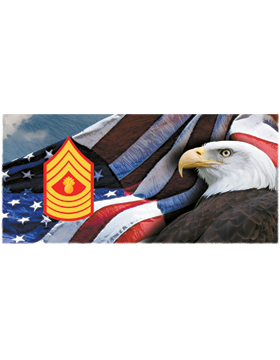 Marine Corps, Master Gunnery Sergeant, Flag with Eagle