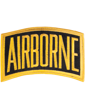 N-002 Airborne Tab Gold on Black 6in x 3.5in
