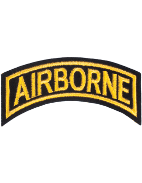 N-003 Airborne Tab Gold on Black 4in small