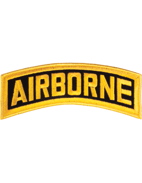 N-004 Airborne Tab Gold on Black 8in