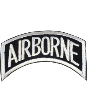 N-005 Airborne Tab Black on White 5in