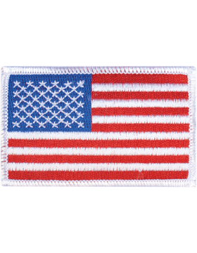 Amer Flag 2in x 3in Fwd White Border Full Color