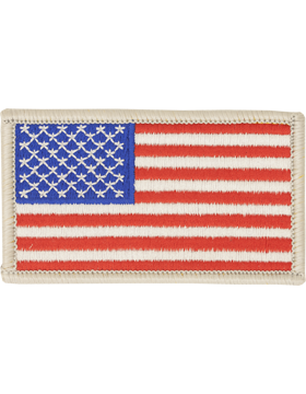 Amer Flag 2in x 3in Fwd Silver Border Full Color small