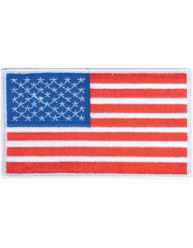 Amer Flag 3in x 5in Fwd White Border Full Color small
