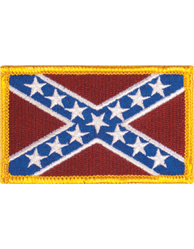 Confederate Flag 2in x 3in Full Color