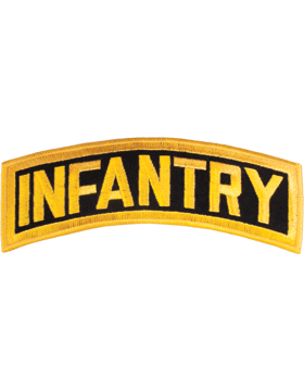 Infantry Tab Black on Gold 8in