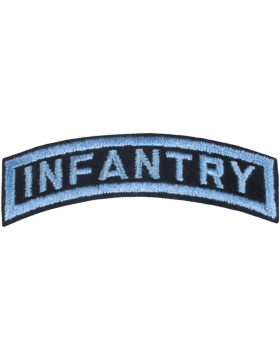 Infantry Tab Blue on Black 3in