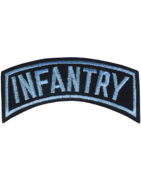Infantry Tab Blue on Black 4in