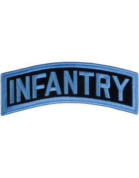 Infantry Tab Blue on Black 8in