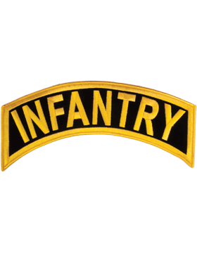 Infantry Tab Gold on Black 12in