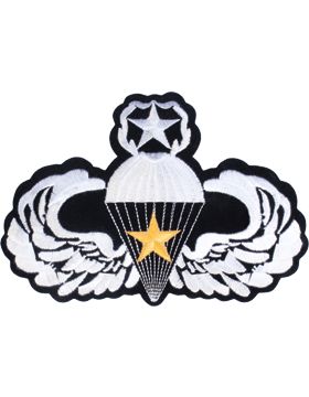 Master Parachutist with Gold Star Large