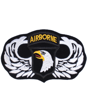 Parachutist Badge with 101 Patch 3in x 5in