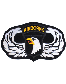 Parachutist Badge with 101 Patch 4in x 7in