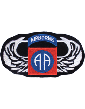 Parachutist Badge with 82 Patch 3in x 5in